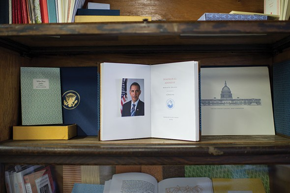 A bound edition of President Obama's first inaugural address. - CHRISTINE ASHBURN