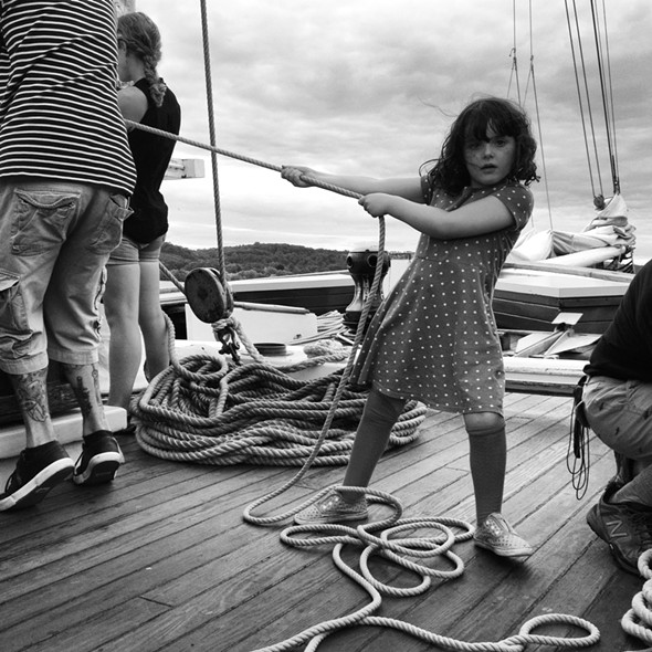 On the deck of Clearwater - HILLARY HARVEY