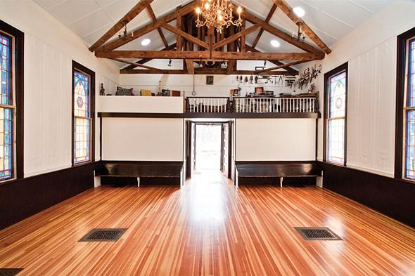 "The interior of the ""Stolen Church of Glenford."" - DEBORAH DEGRAFFENREID"