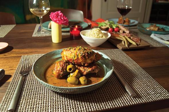The Corner's signature dish, Moroccan chicken - ROY GUMPEL