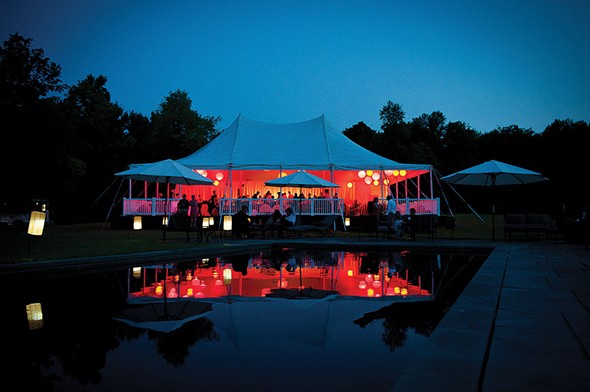 The reception tent from a wedding at a private residence in in Gallatin planned by Mary Beth Halpin of Events by MB. - CHRISTOPHER DUGGAN PHOTOGRAPHY