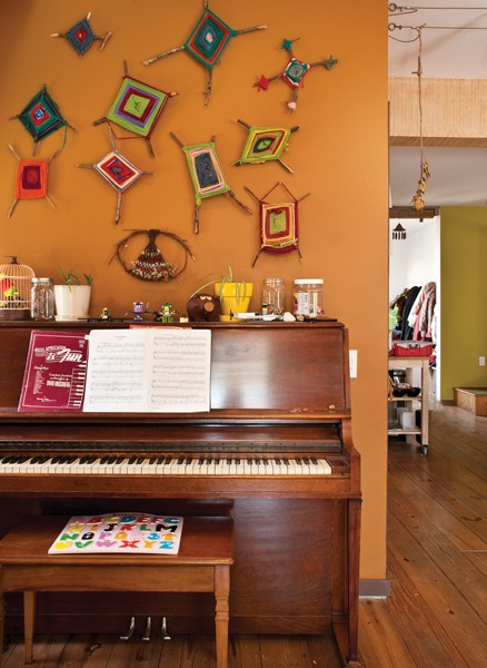 The upright piano came with the house—a good omen for a family of musicians. - DEBORAH DEGRAFFENREID
