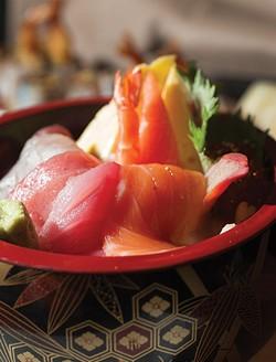 Chirashi (assorted sashimi over rice) - ROY GUMPEL