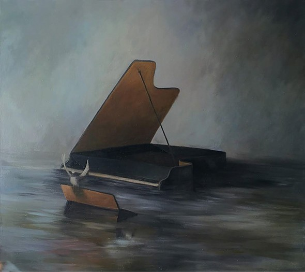 """Piano,"" oil on canvas, Joe Concra. - COURTESY OF O+ FESTIVAL"