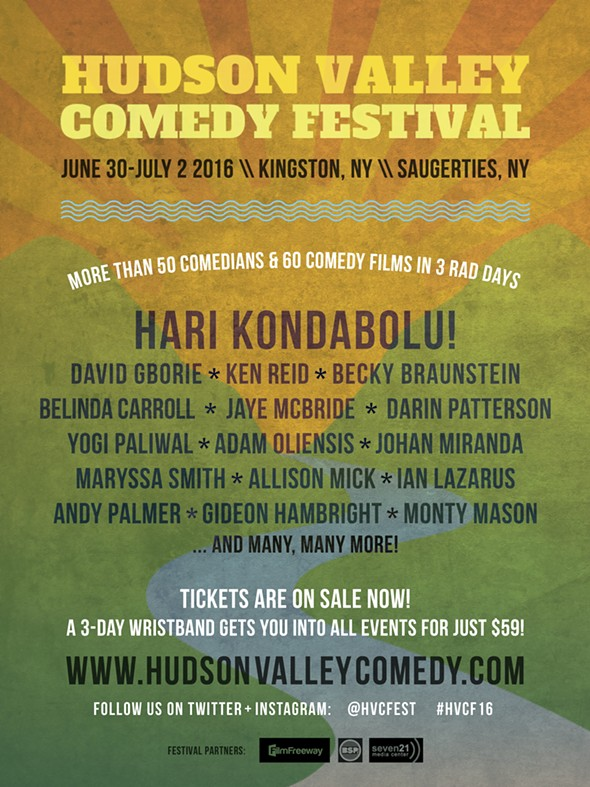 Hudson Valley Comedy Festival poster