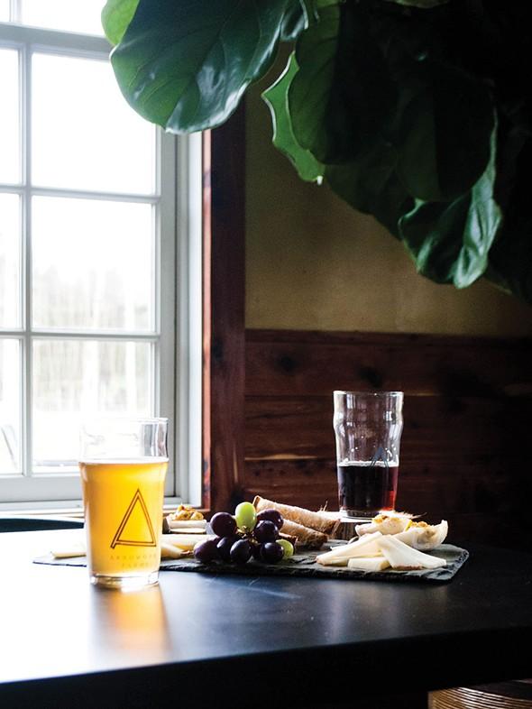 The tasting room at Arrowood Farm. - JAY PAAVONPERA