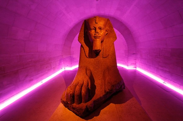 A sphinx surrounded by light. - RICCARDP BRESCIANI