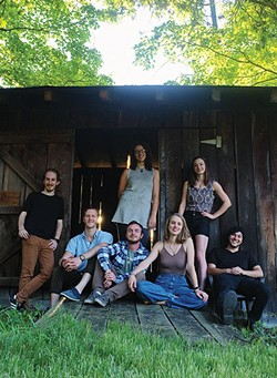 Upstate Rubdown Standing (l-r): Harry D'Agostino, Kate Scarlett, Melanie Glenn - Seated (l-r0: Dave Berger, Christian Joao, Mary Kenney, Dean Mahoney - Not Pictured: Ryan Chappell