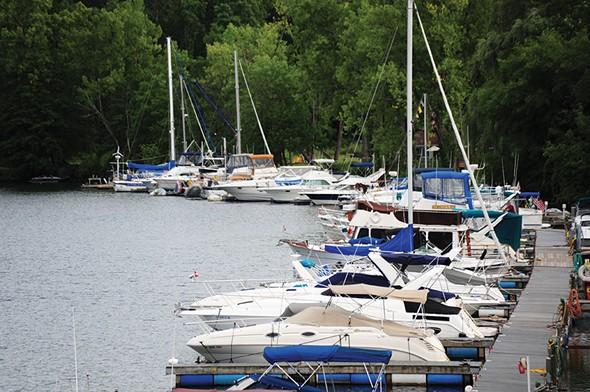 The Catskill Yacht Club and the Hoponose Marina in Catskill - ROY GUMPEL
