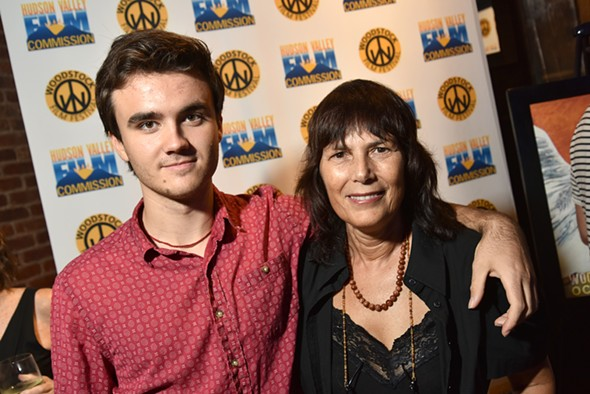 Jack Fessenden with Woodstock Film Festival's Meira Blaustein - COURTESY OF THE WOODSTOCK FILM FESTIVAL