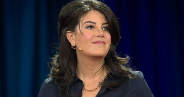Monica Lewinsky giving her 2015 TED Talk on The Price of Shame.