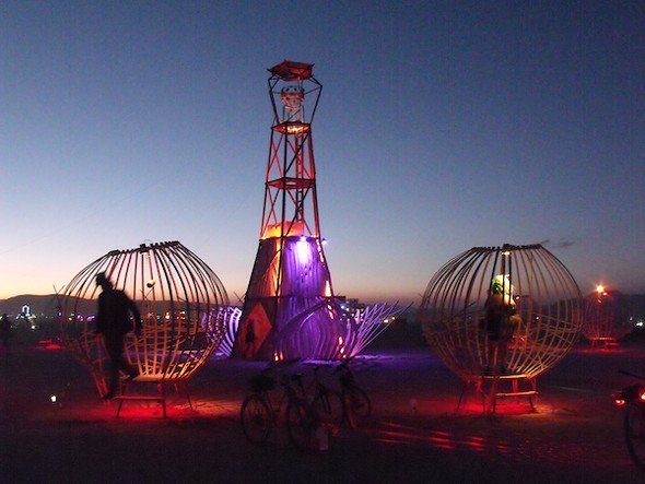 Interactive art at Burning Man 2012. - AMANDA PAINTER