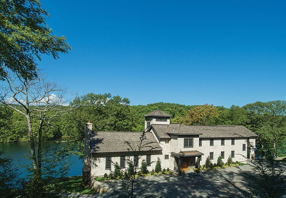 Property available through Nancy Felcetto at Halstead Realty: The Lady of the Lake, formerly a chapel for the Graymoor Friars, at Indian Lake.