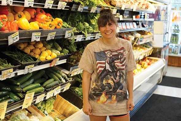 Jaime Keeling at Sunflower Natural Foods Market in Woodstock - JOHN GARAY