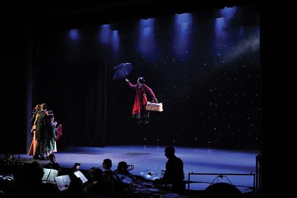 "A performance of ""Mary Poppins"" at the Woodstock Playhouse. - JOHN GARAY"