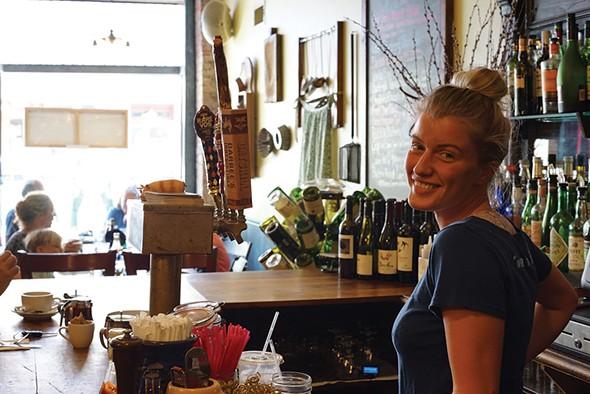Angel Thorbjorsen at Miss Lucy's Kitchen in Saugerties - JOHN GARAY