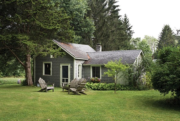 The property's rustic outbuilding has been utilized for guests, as a photo studio and even for dance parties. - DEBORAH DEGRAFFENREID