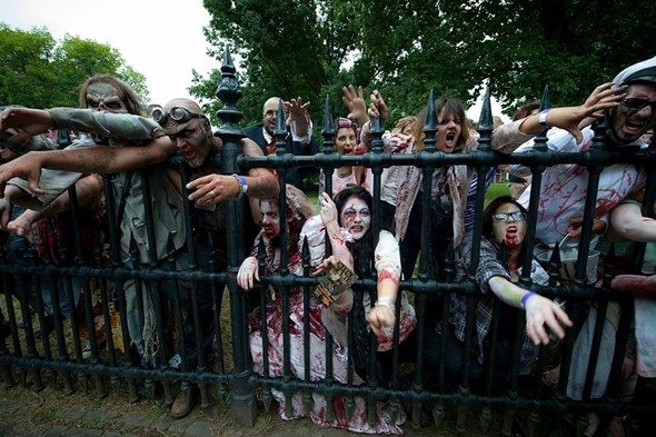 Brain eating zombies at Tuxedo Park's Forest of Fear. - THE FOREST OF FEAR'S OFFICIAL FACEBOOK PAGE