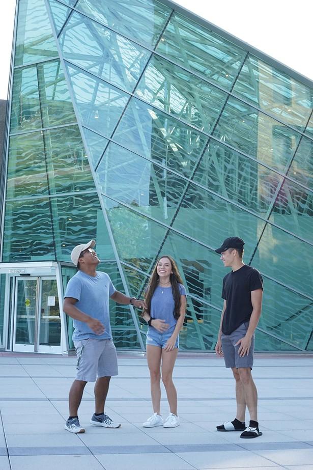 Shanon Pasternak, Peter Pescatore, and Olivia Sozio, students at SUNY New Paltz. - JOHN GARAY