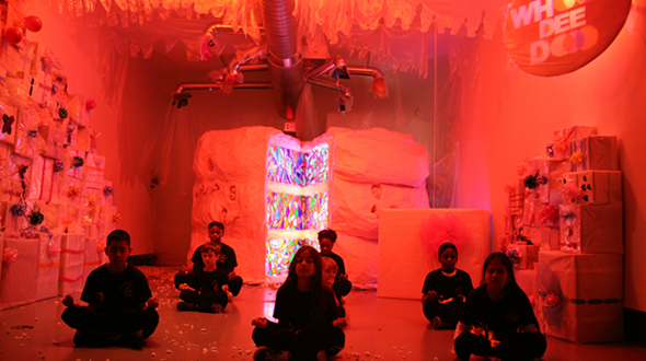 Children sitting in the kid-friendly ground floor installation's at the Haunted Mill. - PHOTO COURTESY OF THE WASSAIC PROJECT.
