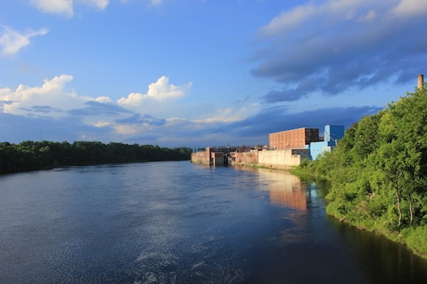 The Kennebec River, between Waterville and Winslow, Maine. - AMANDA PAINTER
