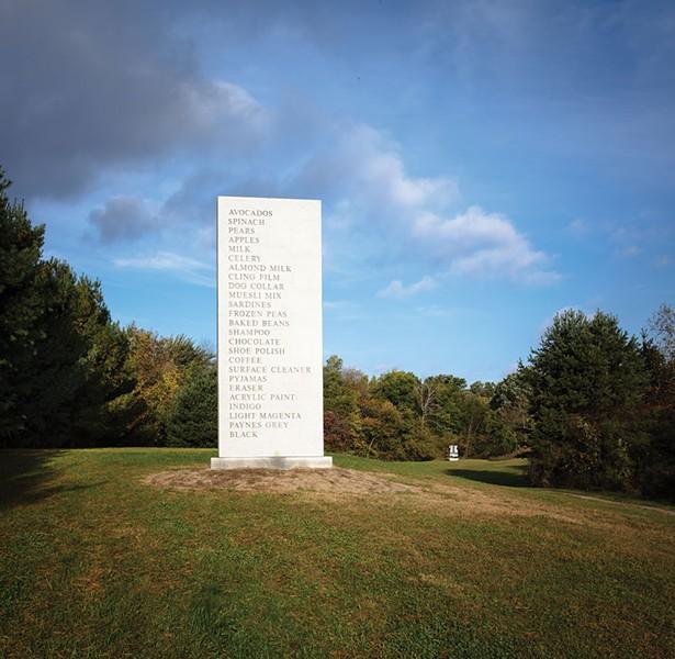 David Shrigley's  Memorial at Art Omi.