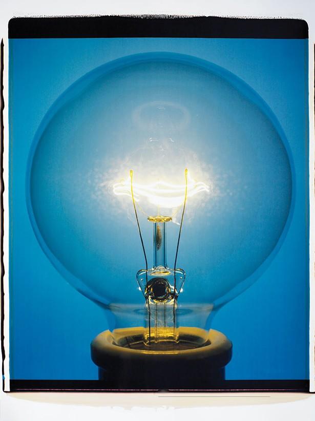 Light Bulb 008BYo, 20-inch-by-24-inch polaroid  2007 - AMANDA MEANS