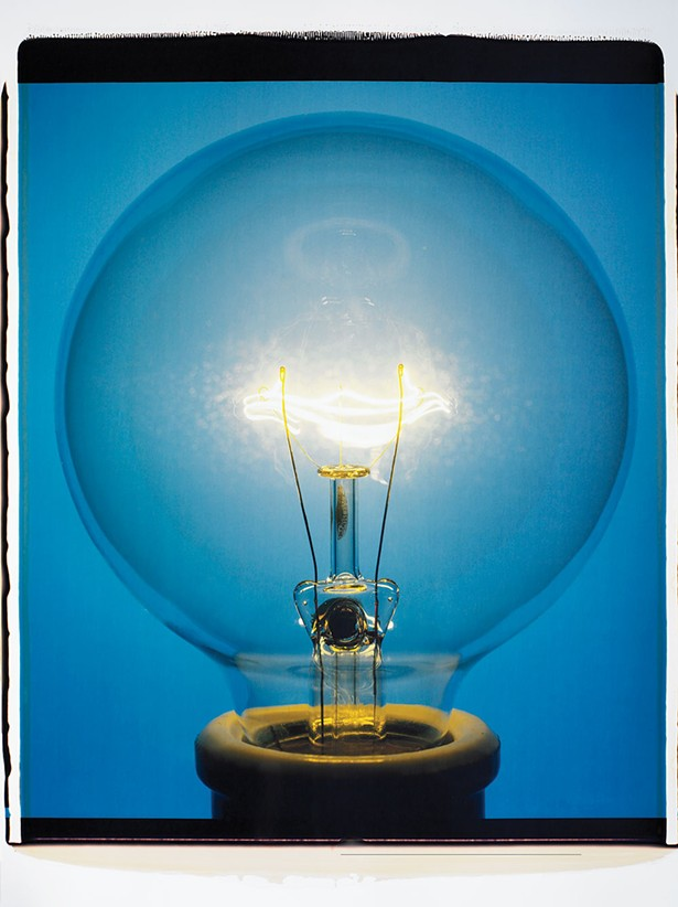 Light Bulb 008BYo, 20-inch-by-24-inch polaroid| 2007 - AMANDA MEANS