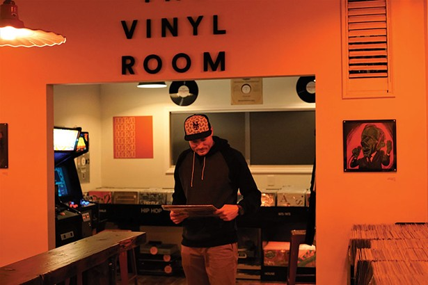 John Kihlmire, owner, at The Vinyl Room in Wappingers Falls.