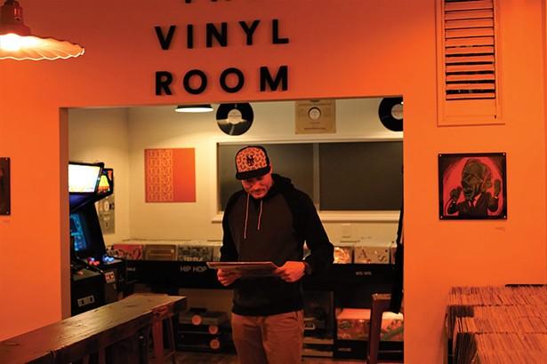 John Kihlmire, owner, at The Vinyl Room in Wappingers Falls. - JOHN GARAY