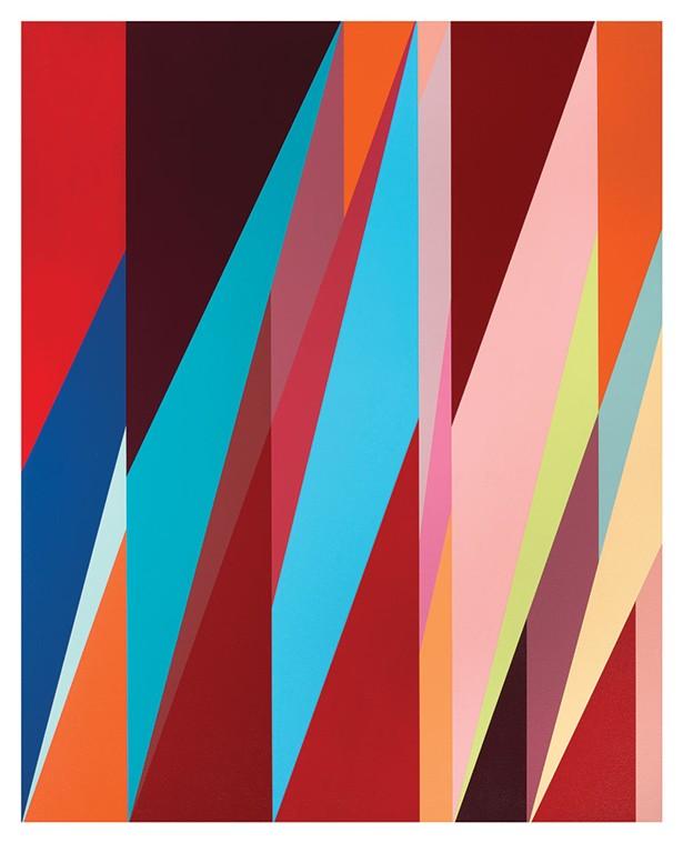 Metropolitan   Odili Donald Odita   acrylic on canvas   2017