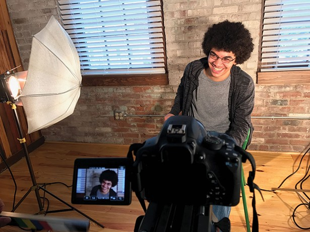 Matthew Hamilton, a participant in the DROP TV summer program.