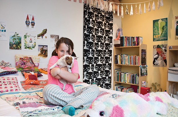 "Shelby Buryk's room faces south and is decorated with toys and her own handicrafts. ""She has the loveliest, warmest room in the house,"" says Bissell. - DEBORAH DEGRAFFENREID"