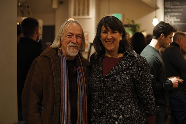 Dick Hermans, founder of Oblong Books and Music, and Jenny Hansell of the North East Community Center. - JOHN GARAY