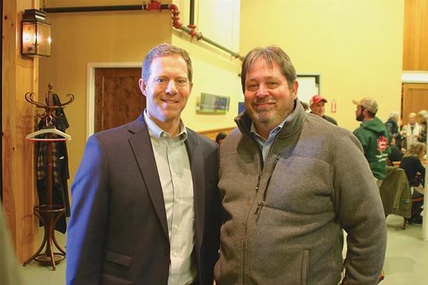Crown Maple CEO Michael Cobb with Luminary Media's Bob Pina. - BRIAN BERUSCH