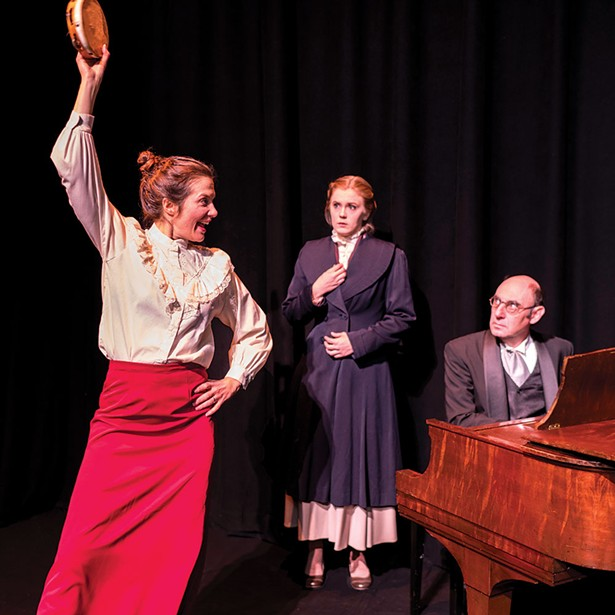 """Francine Ciccarelli, Geneva Turner and Andrew Joffee in the Rhinebeck Theatre Society production of """"A Doll's House."""""""