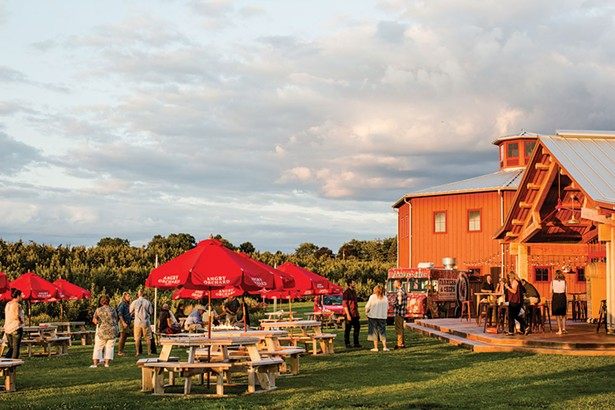 A Farmers & Chefs food truck dinner at Angry Orchard in Walden.