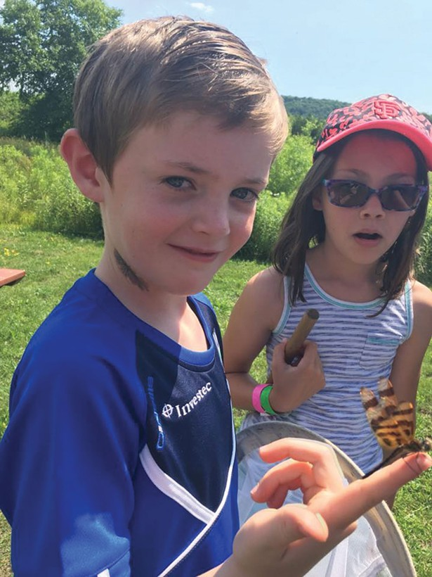 Catching dragonflies at the Hudson Highlands Nature Museum.