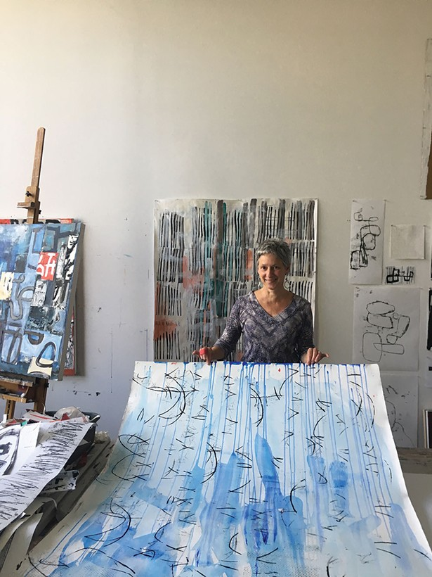Barbara Smith Gioia in her studio at Atlas Studios in Newburgh.