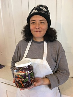 Madalyn Warren learned how to make kimchi from her mother Ji, but has adapted the process to get the most nutrition from her organic vegetables. - JOAN MACDONALD