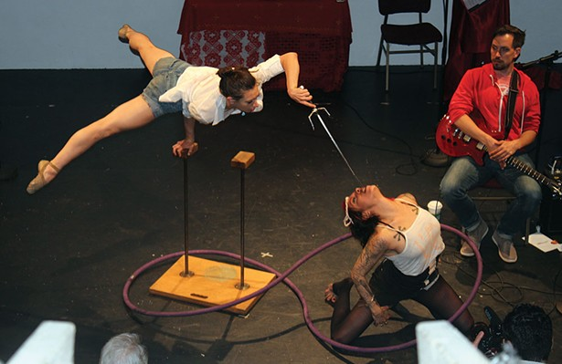 Circus performers at the Secret City Art Revival, which takes over Woodstock July 26-29.