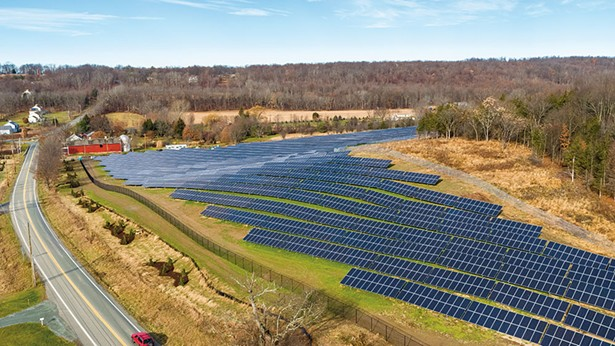 The NRG Community Solar Farm in Minisink, New York is one of the largest community solar farms in the state.
