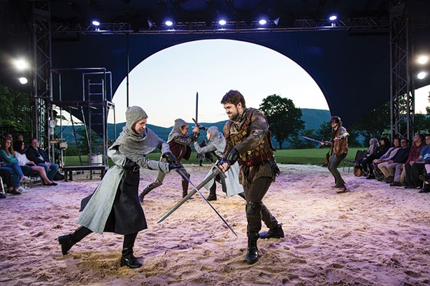 """The cast of Hudson Valley Shakespeare Festival's production of """"The Heart Of Robin Hood."""""""