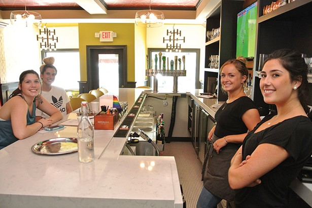 Makenzie and Amanda Lewis, Lily Hickey, Charlotte Katz at Lolita's. - JOHN GARAY