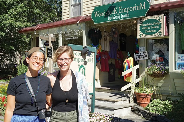 Rachel Stein and Ananda DiMartino on Tinker Street in Woodstock - JOHN GARAY