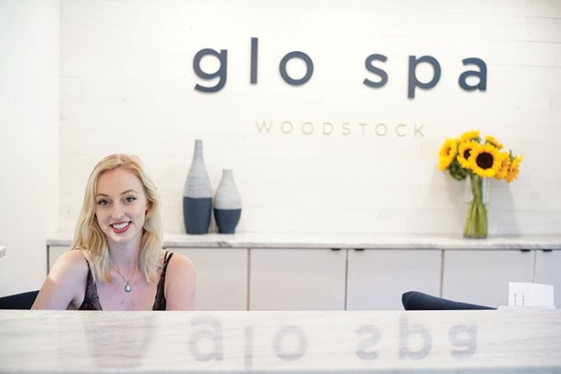 Salon Assistant Carly Lenhardt at Glo Spa in Woodstock - JOHN GARAY