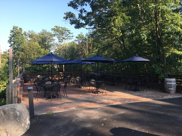 The creekside patio. - MARIE DOYON