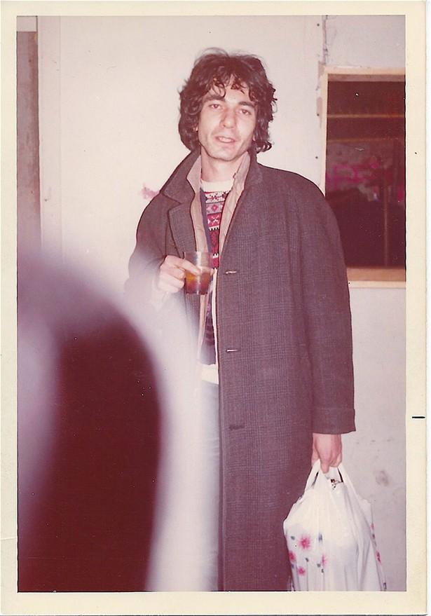 Richard Boch, Mudd Club basement, January 1980. - LYNETTE BEAN