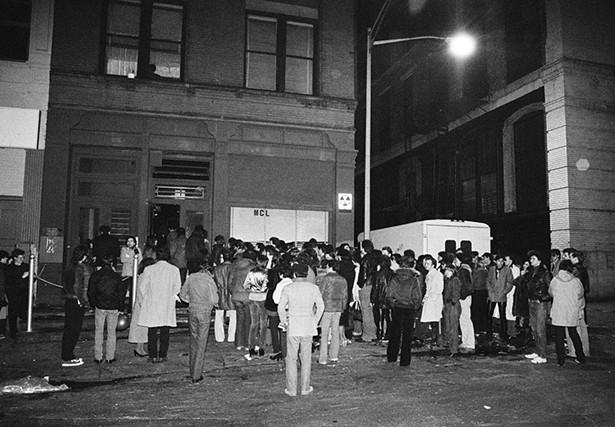 Mudd Club street scene, winter, 1979. - BOB GRUEN