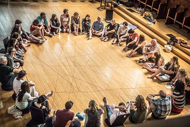 Jack Kornfield silent meditation retreat at Garrison Institute.